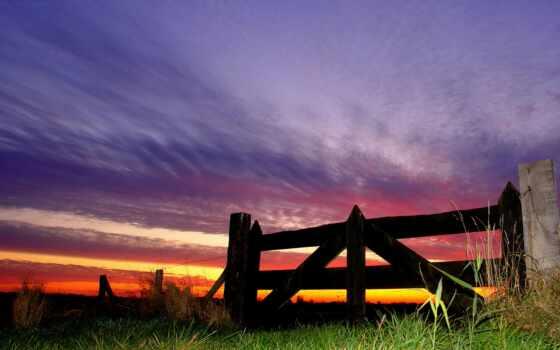 забор, release, вечер, природа, defcon, take