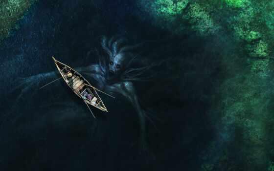 тварь, monster, mythical, собственно, море, art, рисованный, think, animal, exist