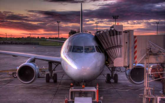 aircraft, sunset Фон № 21141 разрешение 1920x1200