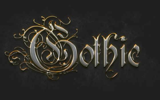 gothic, gold, готические