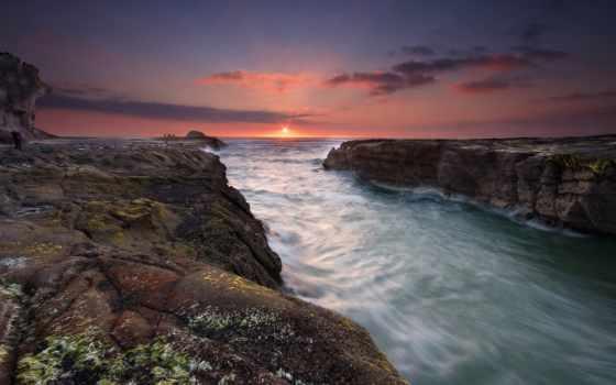 новая, zealand, море, зеландии, новой, взгляд, пляж, пляжи, небо, пляже,
