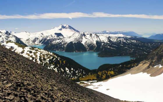 озеро, гарибальди, milli, красивые, голубое, да, пейзажи -, винчи, леонардо,