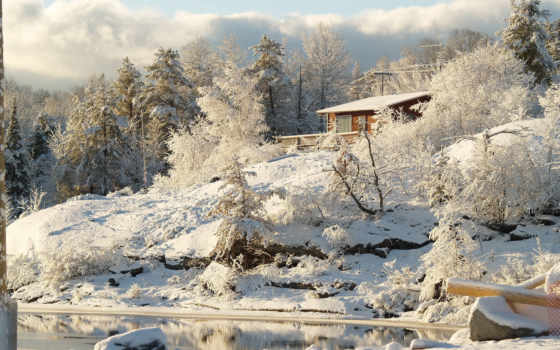 канадский, trees, природа, снег, картинка, winter, ano, canadá, горы, парки,