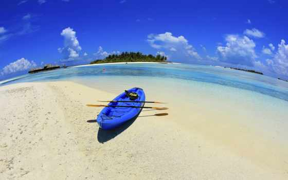 море, blue, песок