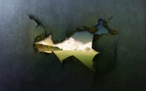 стена, креатив, church, люди, они, строят, вместо, мостов, стены,