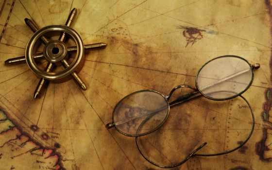 карта, очки