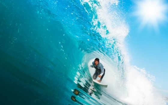 серфингист, море, картинку