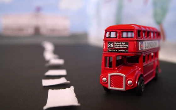 s壁纸第一辑, 双层巴士玩具车iphone