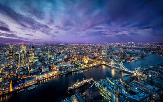 london, река, город