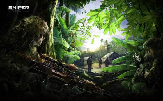 картинка, воин, снайпер, широкоформатные, игры, мечи, madness, video, ghost,
