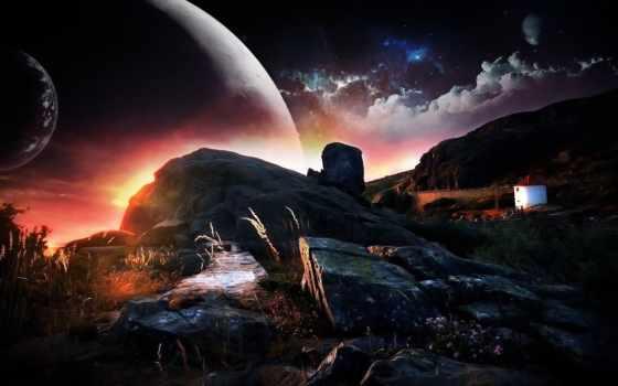 фантастика, fantastic, фантастические, art, категория, пейзажи -, совершенно, landscape,
