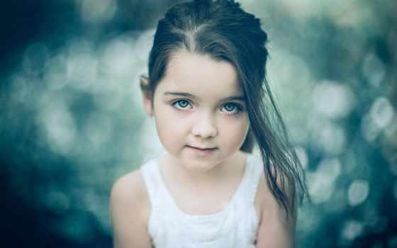бок, девушка, portrait, взгляд, effect