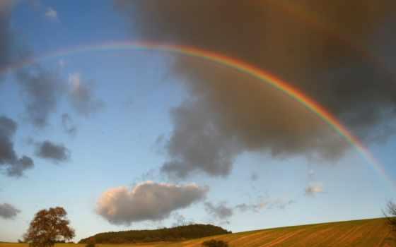 радуга, небе, погода, стрелок, природы, landscape, природа,