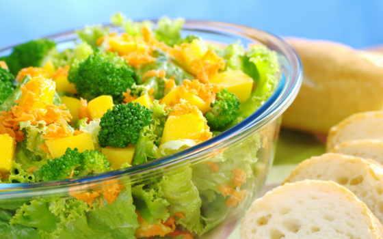 салат, производить, брокколи, зелёный, еда, полезное, color, использование,