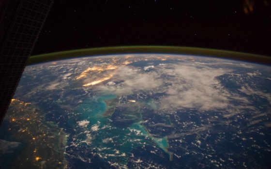 космос, карибское, море, космоса, земли, nasa, cuba, может, день, новости, издаёт,
