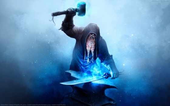 blacksmith, creator, наковальня, меч, рисунок, куёт, хаммер, огонь, art, иралар, sveta,