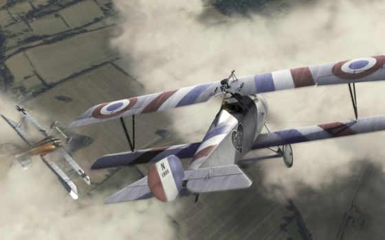 биплан, самолет