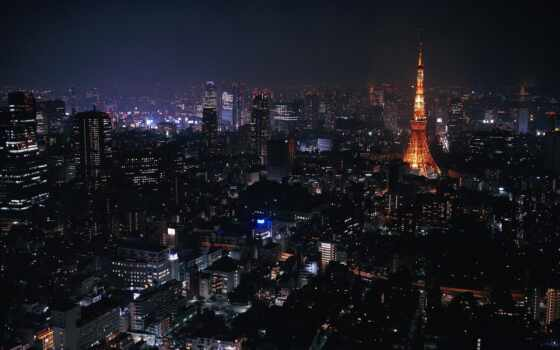 tokyo, города, ночь