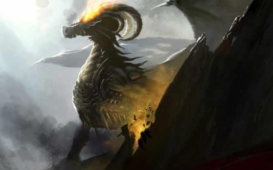 art, огонь, фантастика, horns, фотообои, демоница, купить, deviantart,