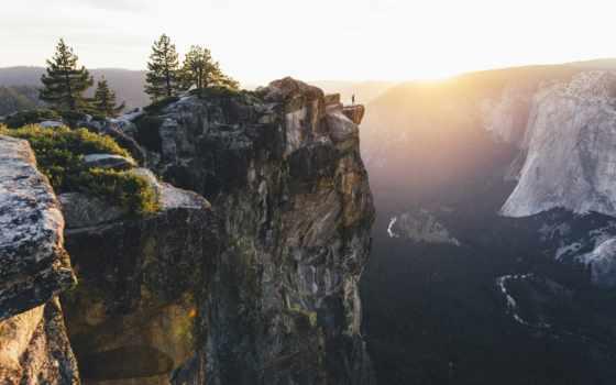 yosemite, national, закат, park, landscape, природа, mountains