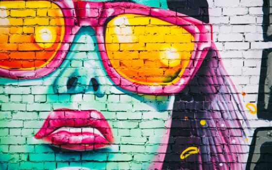graffito, graffiti, стена, фотообои, art, музыка, portrait, print, canvas, девушка