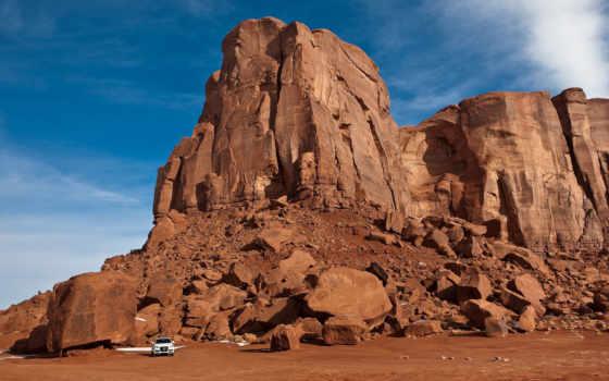 скалы, авто, горы, пустыня, долина, монументов, пустыни, пустыне, качественные, гор, предпросмотром, америки,