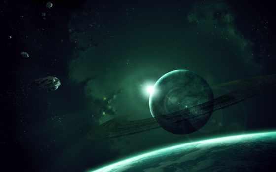 планета, кольца Фон № 26987 разрешение 2560x1600