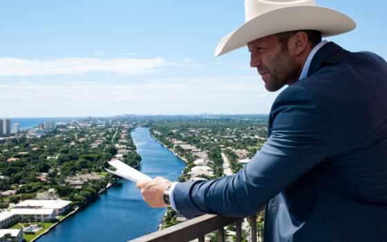 шляпа, река, город, небо, ковбой, лето, ковбойская, перевозчик, адреналин,