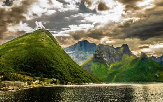 landscape, норвегия, гора