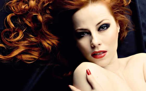 волос, волосы, рыжими