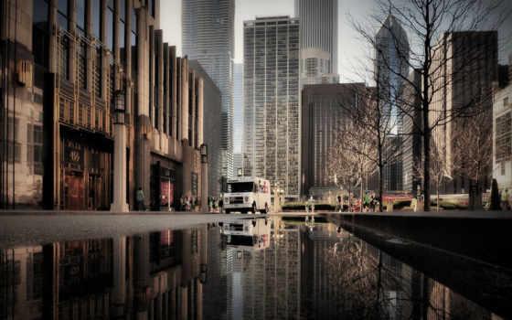 chicago, иллинойс, bus,
