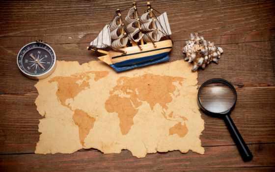 mapa, tesouro, por, vetores, mundo, del, que, tesouros, fotos, voc,