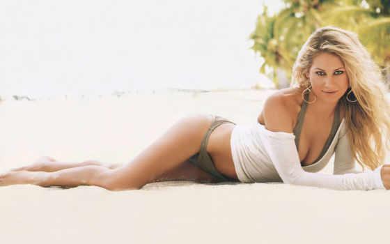 anne, курникова, купальнике, пляж, песок, купальниках, blonde, tennis, теннисистка, позы,