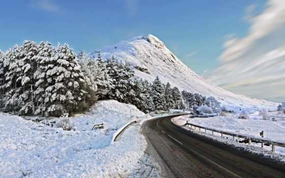 дорога, winter, landscape, гора, снегу, trees, пейзажи -, красивые, иркутск, зимняя,