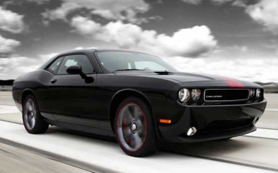 dodge, challenger, muscle, car, кар, челенжер, фронтовой, тюнинг, black,