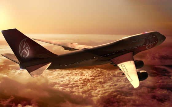 самолёт, oblaka, полет Фон № 105292 разрешение 1920x1080