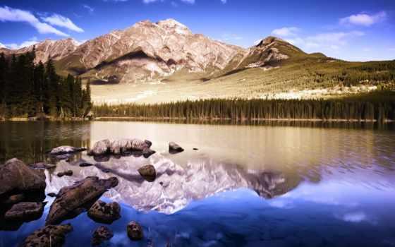 озеро, зеркало, mountains, отражение, desktop, tahoe,