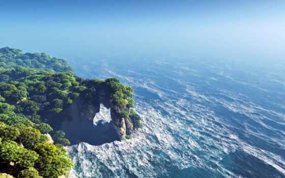 ocean, берег, awesome, stunning, арка, остров, desktop,