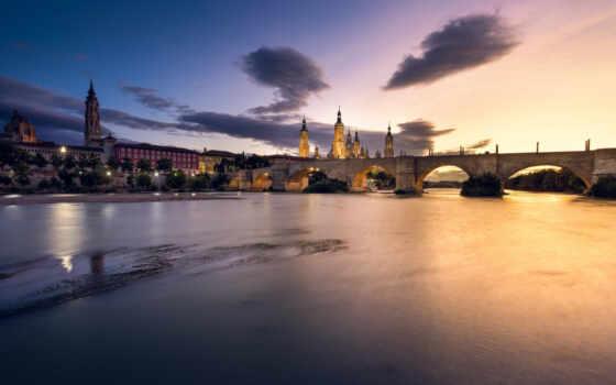 even, город, ночь, zaragoza, free, russian, огонь, река, building, house