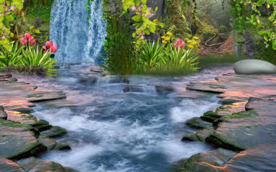 природа, водопад Фон № 22628 разрешение 2560x1600