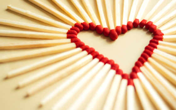 сердце, love, спичек, matchsticks, макро, спички, разрешении, картинку, чтобы,