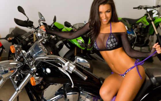 devushki, мотоциклы, мото
