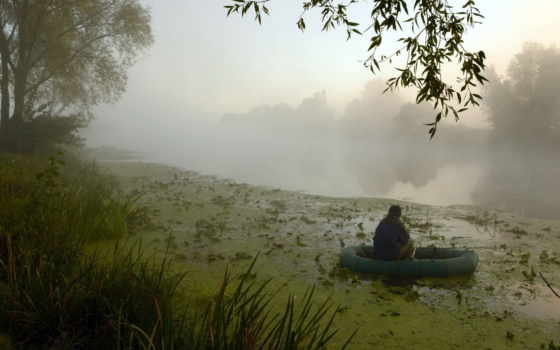 рыбалка, рыбак, mist