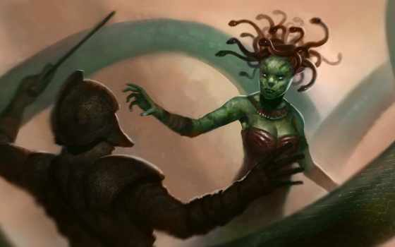 medusa, pathfinder, fantasy, size, name, views, dungeons, npc, тварь,