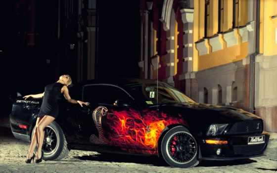 авто, девушка, ford