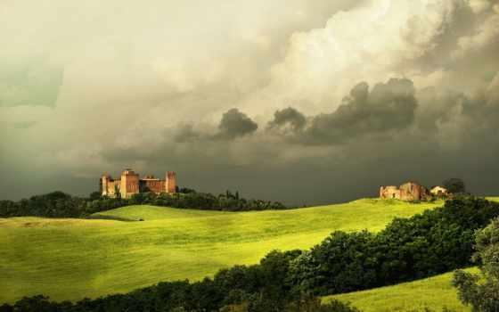 tuscany, italian, взят, оригинал, пейзажи -, тосканы, природа, поле,