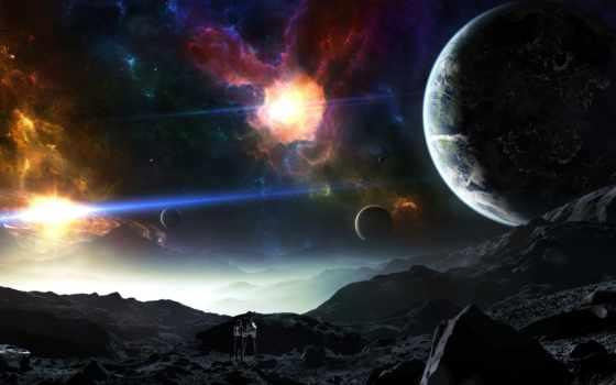 планеты, cosmos, nebula, planet, land, crew, корабль, графика, гладь, taenaron, нравится,