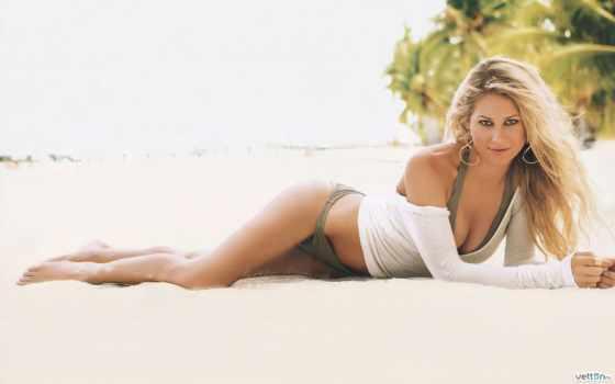 anne, курникова, купальнике, пляж, песок, купальниках, позы, blonde, tennis,