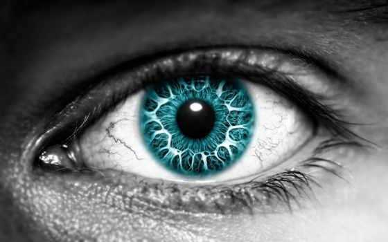 глаз, чёрно