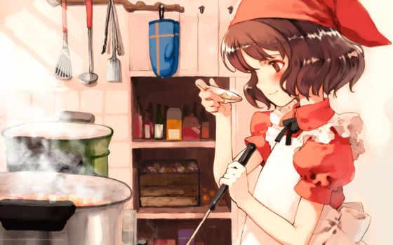 cook, anime, табличка
